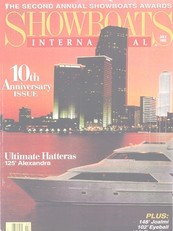 Showboats: Ward Setzer Designed Hatteras Cover Feature Cover