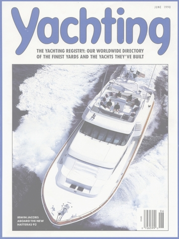 Yachting Magazine: Ward Setzer Designed Hatteras Cover Feature Cover