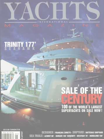Yachts International Magazine: Keri Lee III (ex. Seahawk) Cover Feature Cover