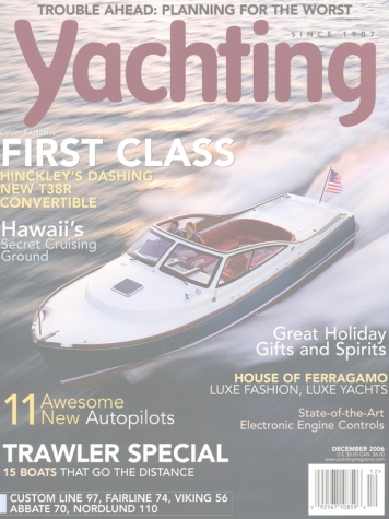 Yachting: Hinckley T38R Cover Feature Cover