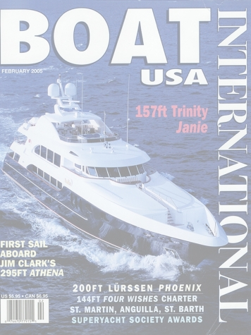 Boat International Magazine: Cocktails (ex. Janie) Cover Feature Cover