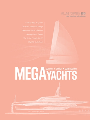 Setzer Concept Featured in 2013 Megayachts Book Cover