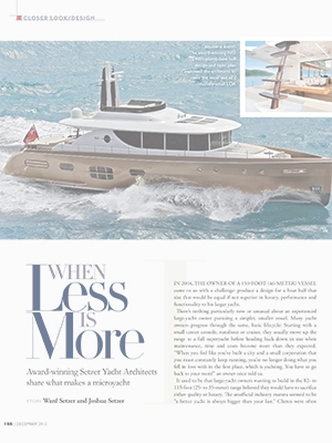 When Less is More: Yachts International Feature by Joshua & Ward Setzer Cover