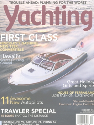Hinckley T38R Featured in Yachting Magazine Cover