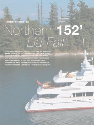 Lia Fail Featured in Yachts International Magazine Cover