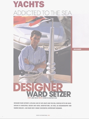 Addicted to the Sea: Setzer Featured in Yachts Magazine Cover