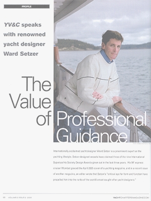 The Value of Professional Guidance: Yacht Vacation & Charter Magazine Interview with Ward Setzer Cover