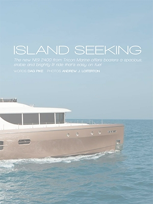 Island Seeking: NISI 2400 Featured in Asia-Pacific Boating Magazine Cover