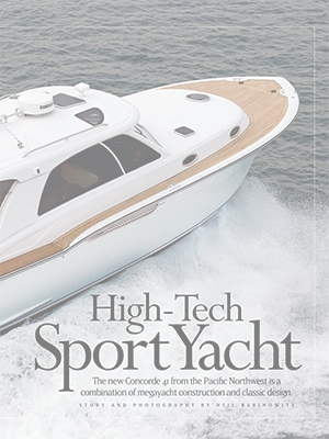 High-Tech Sports Yacht: Concorde 41 Special Feature Cover