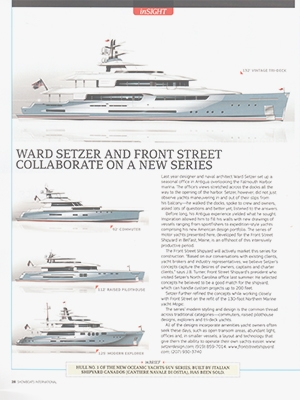 Front Street Concept Series Featured in Showboats Cover